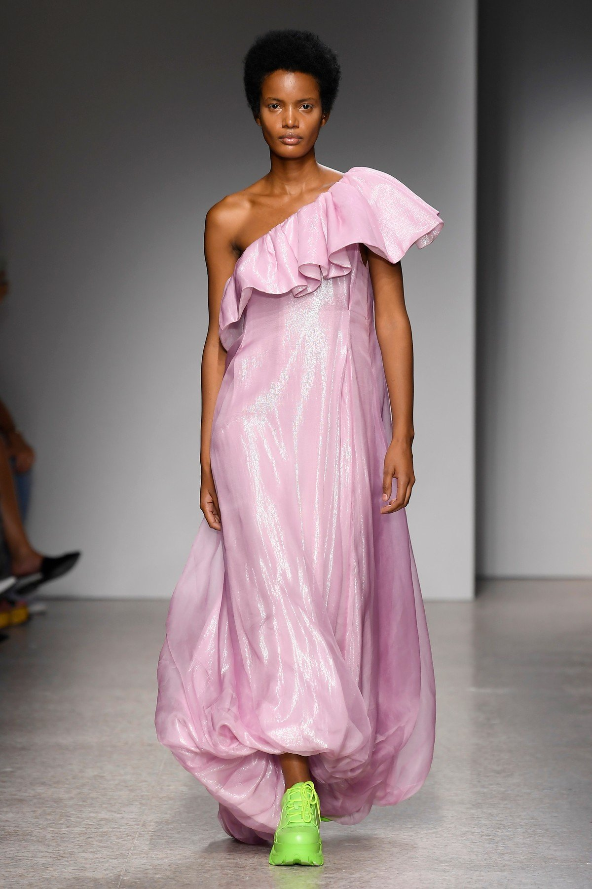 Model on the catwalk Annakiki show, Runway, Spring Summer 2019, Milan Fashion Week, Italy - 19 Sep 2018, Image: 387453476, License: Rights-managed, Restrictions: , Model Release: no, Credit line: Profimedia, TEMP Rex Features