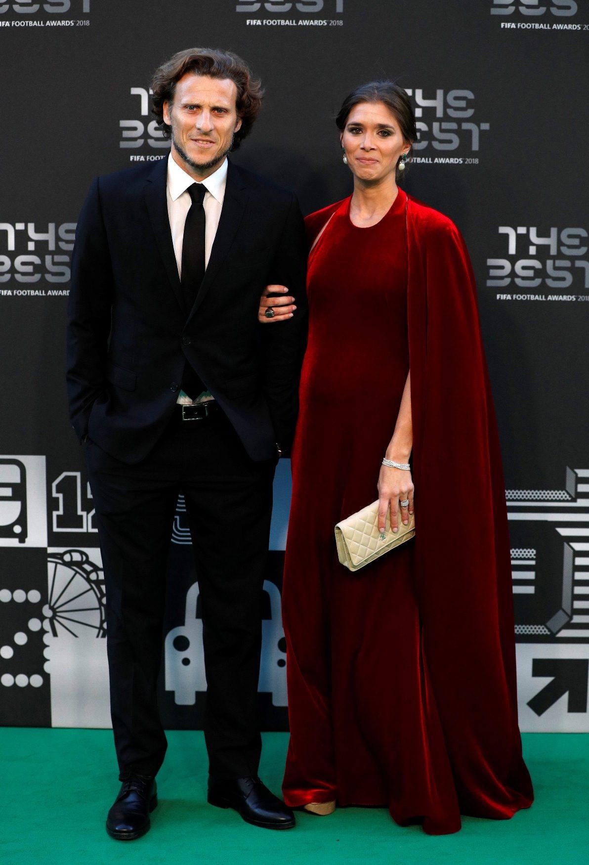 Diego Forlán sa suprugom Paz Cardoso