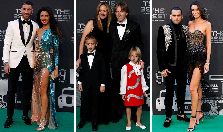 Sergio Ramos i supruga Pilar Rubio; Luka Modrić sa suprugom Vanjom, sinom Ivanom i kćeri Emom; Dani Alves i djevojka Joana Sanz