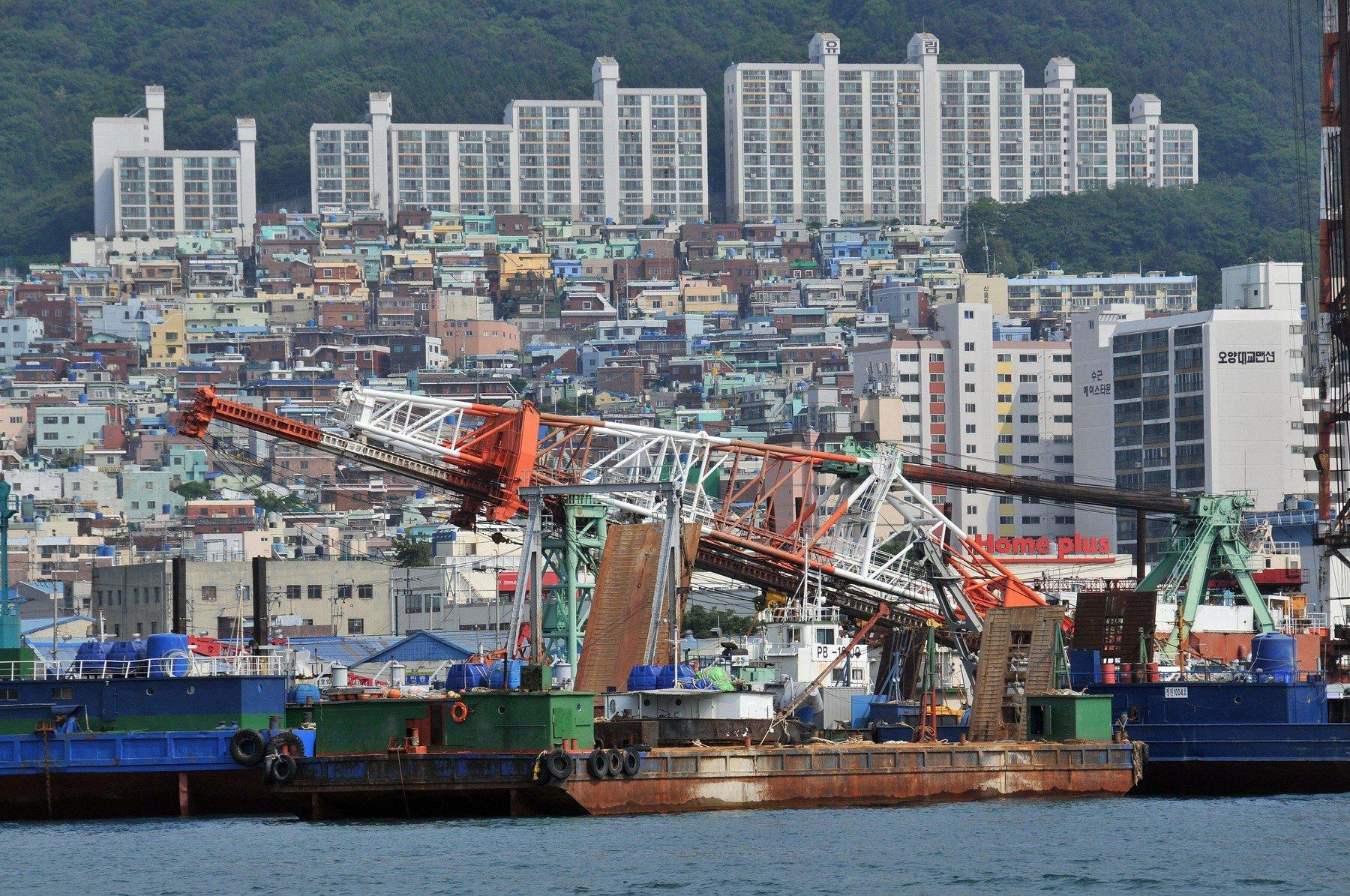 Ilustracija, brodogradilište u Južnoj Koreji