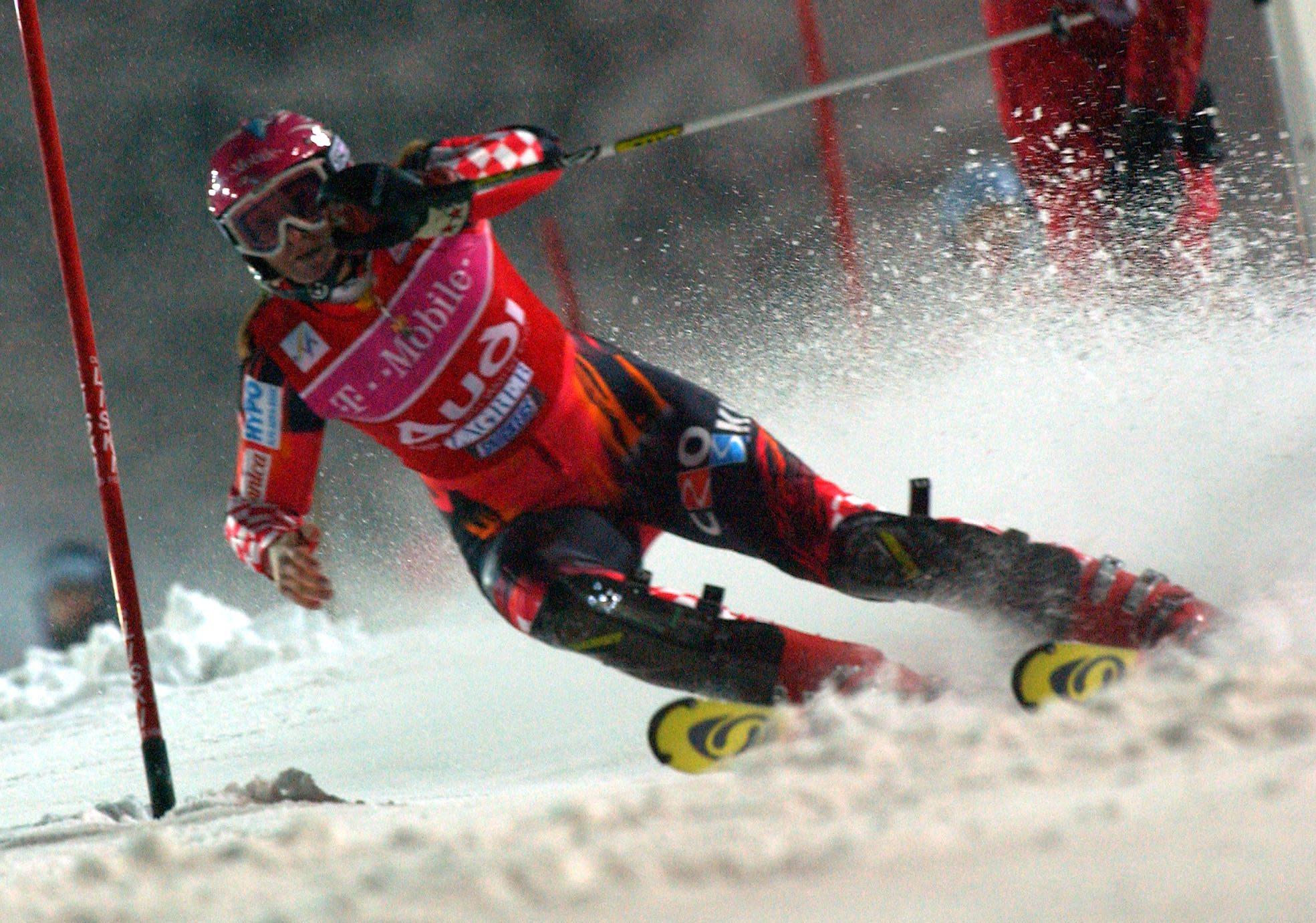 zagreb, 05012006 snjezna kraljica sljeme skijanje slalom janica kostelic foto:srdan vrancic -spo- -desk- -zag- -web-