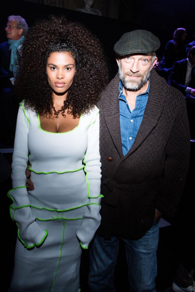 Tina Kunakey i Vincent Cassel na Paris Fashion Weeku