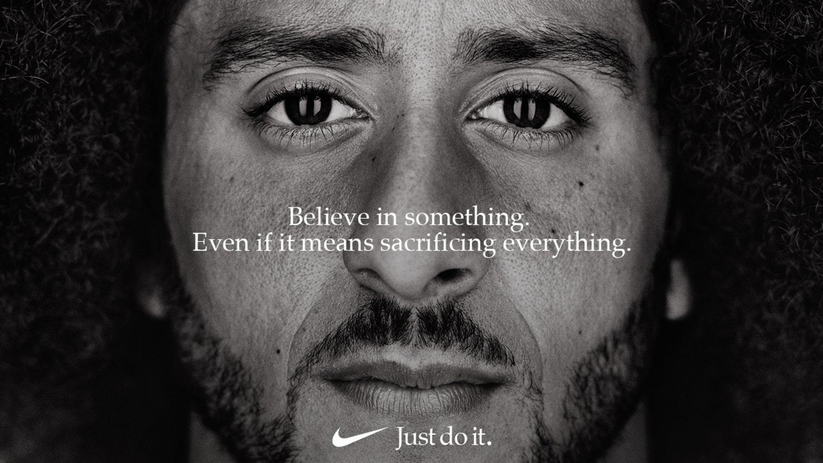 Colin Kaepernick na reklami Nikea