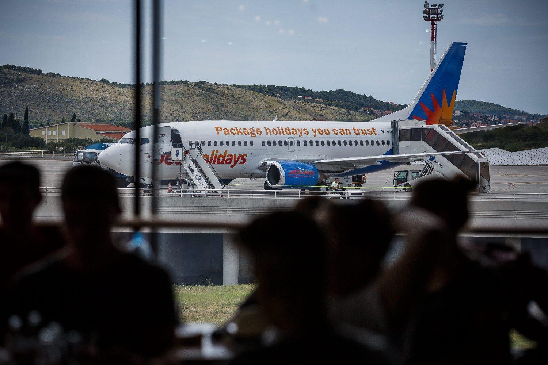 Ilustracija, zračna luka u Splitu