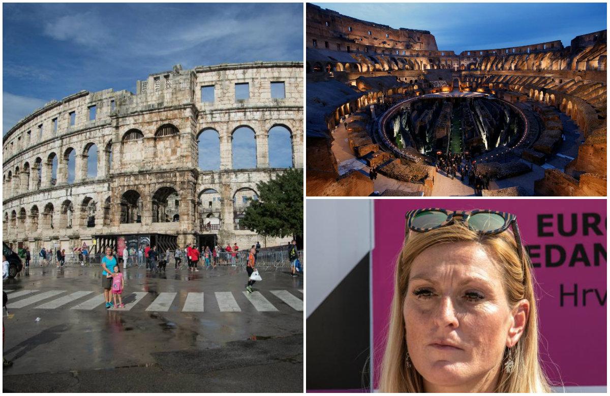 Arena u Puli, Koloseum u Rimu, Janica Kostelić
