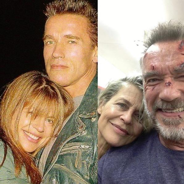 Linda Hamilton i Arnold Schwarzenegger