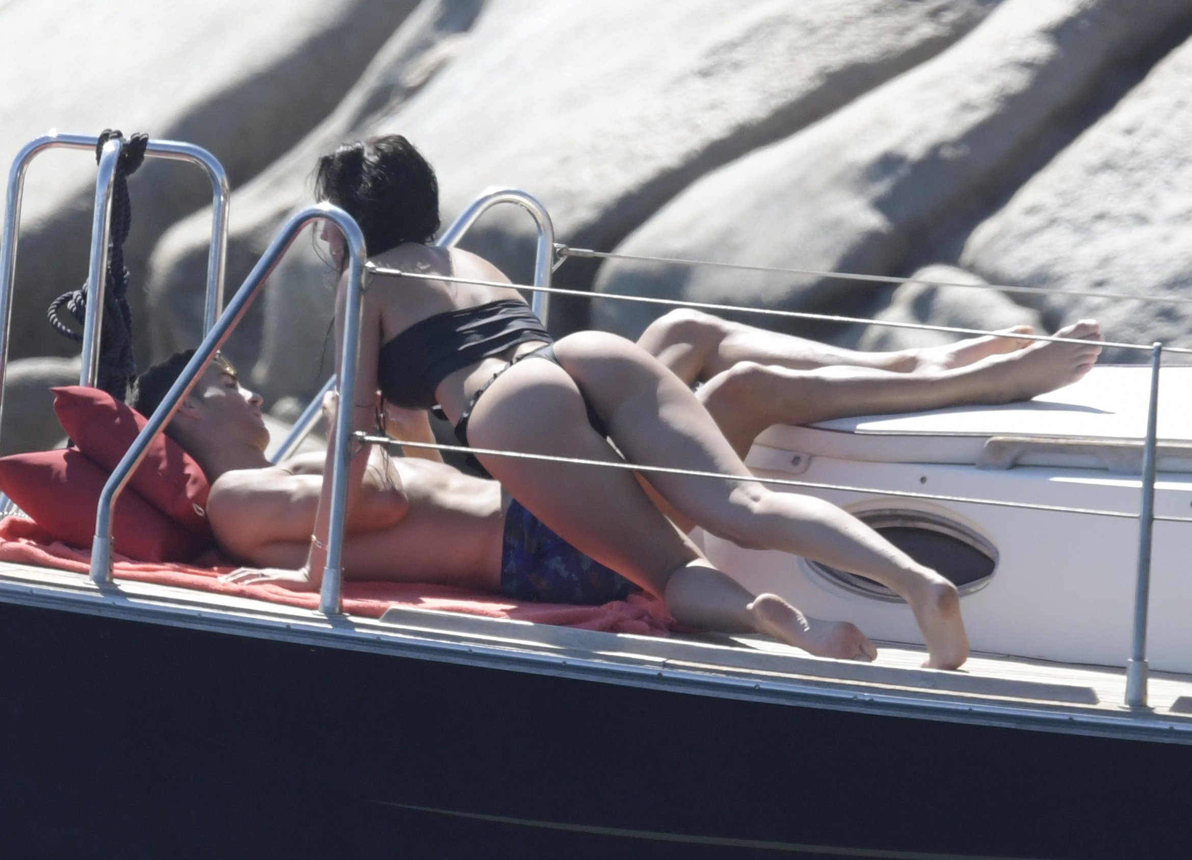 Cristiano Ronaldo and Georgina Rodriguez sharing PDA on a yacht, during a getaway in Sardinia with son Cristiano jr. 03 Sep 2018, Image: 385129761, License: Rights-managed, Restrictions: NO Italy, Spain, Model Release: no, Credit line: Profimedia, Mega Agency