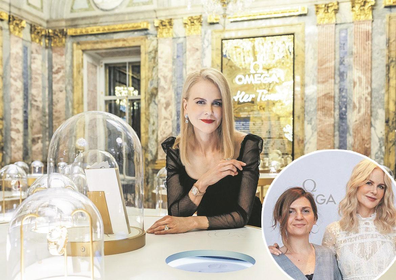 Nicole Kidman (na fotografiji u krugu u društvu novinarke Jutarnjeg Marijane Sever Tot)