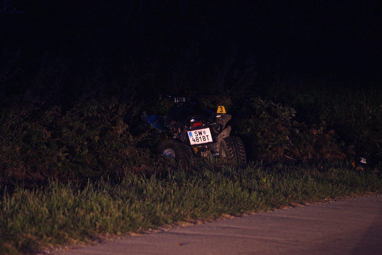 Cakovec, 290918. U prometnoj nesreci izmedju cetverocikla i osobnog vozila poginula je jedna osoba. Nesreca se dogodila izmedju mjesta Selnica i Zavescak. Vise detalja biti ce poznato nakon policijskog ocevida. Foto: Zeljko Hajdinjak / CROPIX