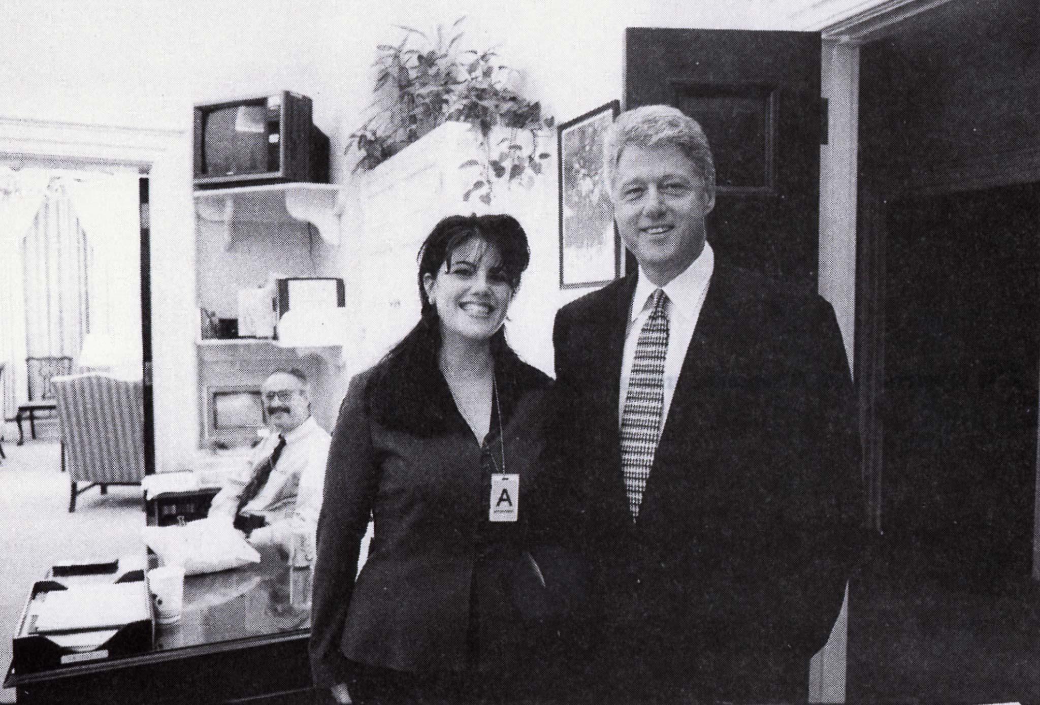 Bill Clinton i Monica Lewinsky 1995.