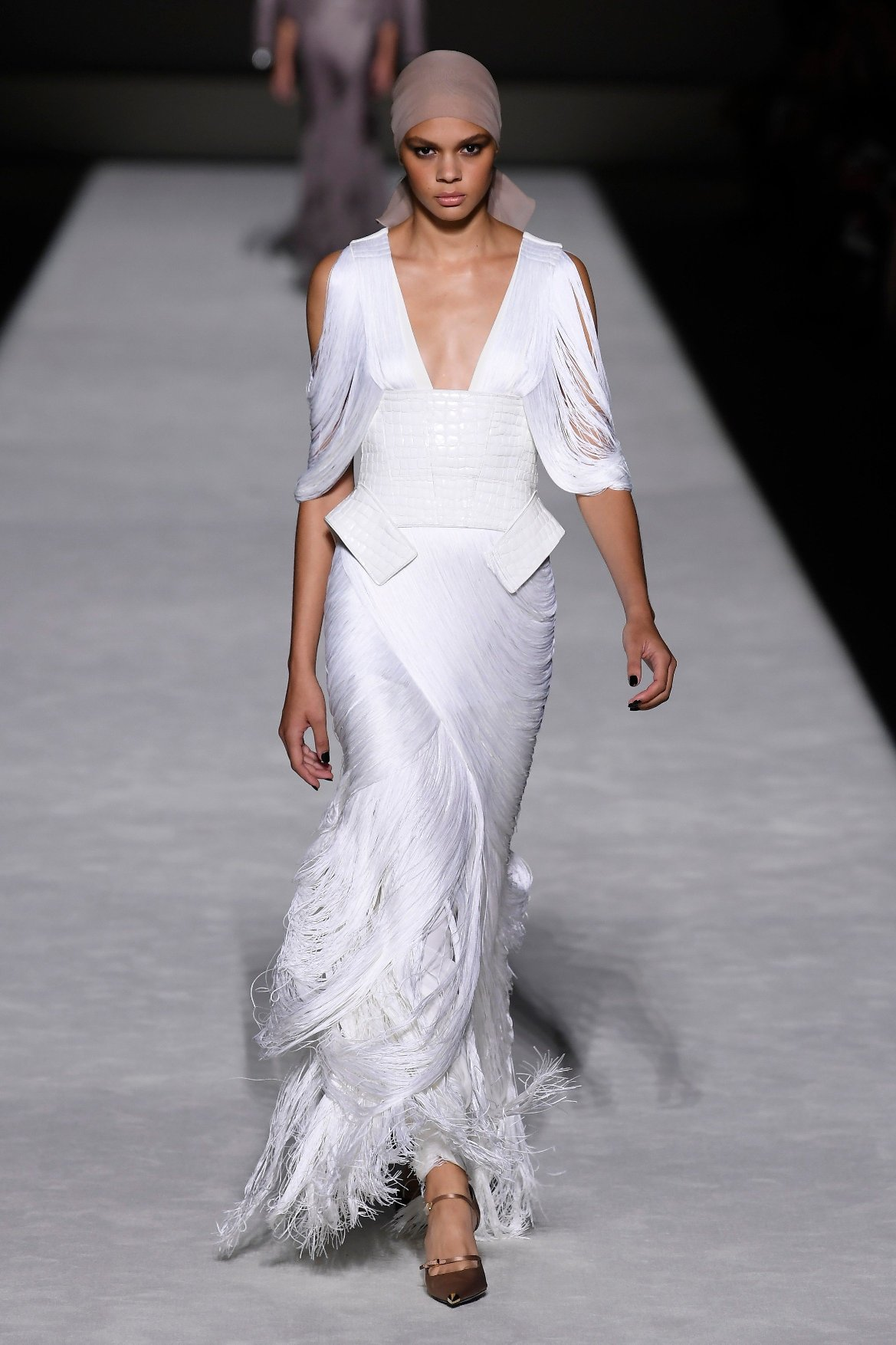 Model on the catwalk Tom Ford show, Runway, Spring Summer 2019, New York Fashion Week, USA - 05 Sep 2018, Image: 385463306, License: Rights-managed, Restrictions: , Model Release: no, Credit line: Profimedia, TEMP Rex Features