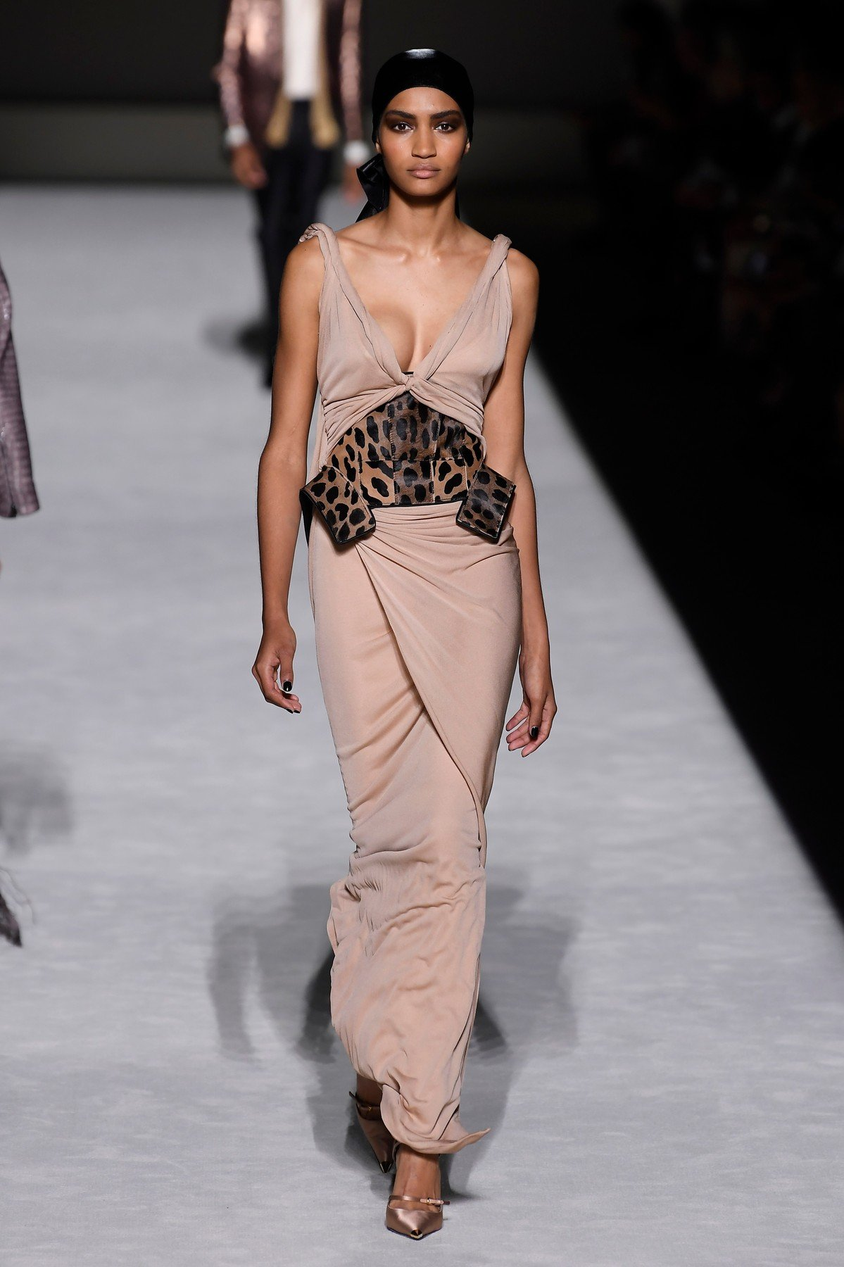 Model on the catwalk Tom Ford show, Runway, Spring Summer 2019, New York Fashion Week, USA - 05 Sep 2018, Image: 385463277, License: Rights-managed, Restrictions: , Model Release: no, Credit line: Profimedia, TEMP Rex Features