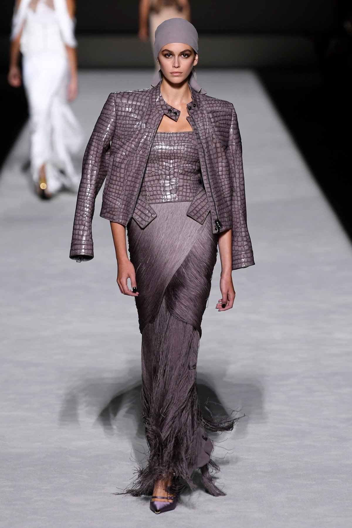 Kaia Gerber on the catwalk Tom Ford show, Runway, Spring Summer 2019, New York Fashion Week, USA - 05 Sep 2018, Image: 385460517, License: Rights-managed, Restrictions: , Model Release: no, Credit line: Profimedia, TEMP Rex Features