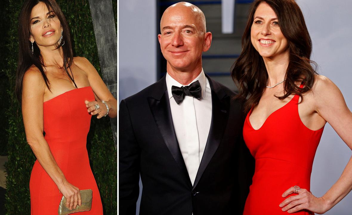 Lauren Sanchez (lijevo), Jeff i MacKenzie Bezos (desno)