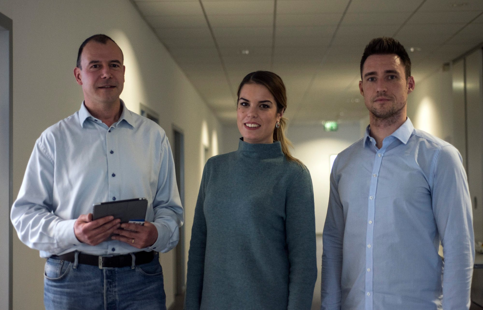 Igor Pandžić, osnivač, Dragana Krčum marketinški menadžer u odjelu Face Tehnology, Gordan Kreković, voditelj tima za istrazivanje i razvoj u Automotive odjelu