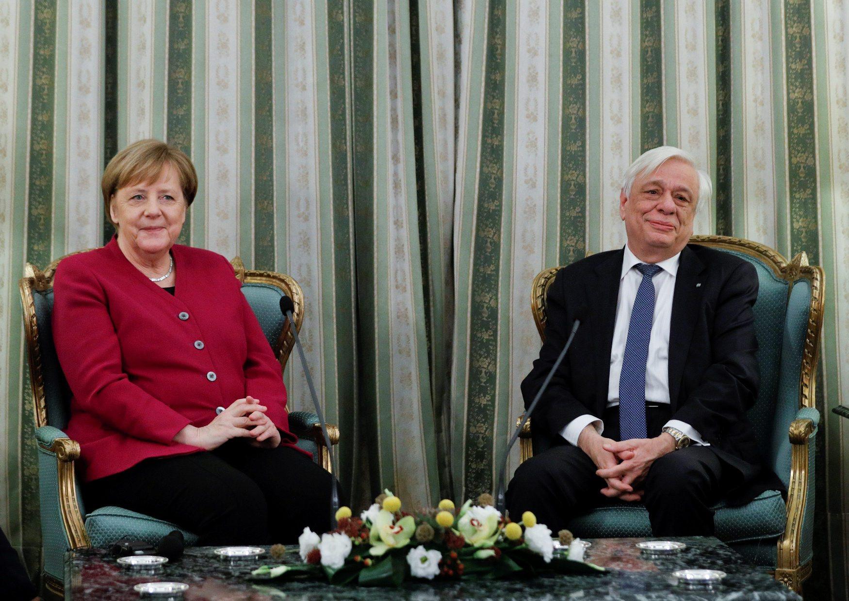 Njemačka kancelarka Angela Merkel i grčki predsjednik Prokopis Pavlopoulos