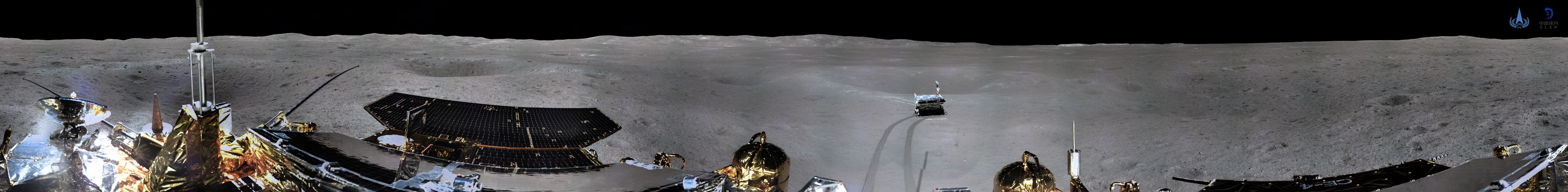 (190111) -- BEIJING, Jan. 11, 2019  -- The China National Space Administration on Jan. 11, 2019 releases the 360-degree panoramic photos taken by a camera installed on China's Chang'e-4 lunar probe (cylindrical projection). China's Chang'e-4 probe took panoramic photos on the lunar surface after it successfully made the first ever soft-landing on the far side of the moon., Image: 406523797, License: Rights-managed, Restrictions: WORLDWIDE RIGHTS AVAILABLE EXCLUDING CHINA, HONG KONG ONLY. End users shall not licence, sell, transmit, or otherwise distribute any photographs represented by eyevine, to any third party. Contact eyevine for more information: Tel: +44 (0) 20 8709 8709 Ema, Model Release: no, Credit line: Profimedia, Eyevine