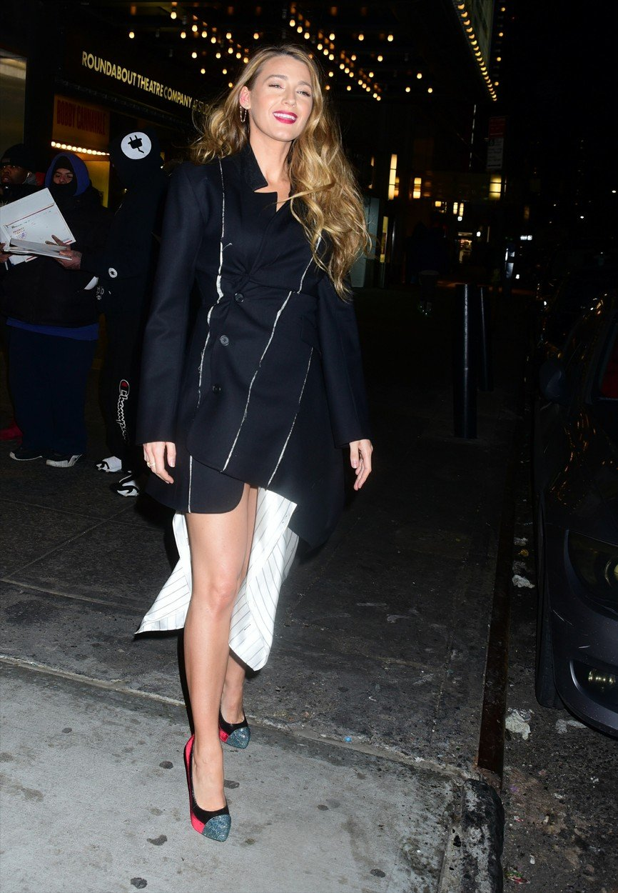 , New York, NY - 20190110 - Stars were seen for a private reception for Rob Marshall at Feinstein's/54 Below.  -PICTURED: Blake Lively -, Image: 406435644, License: Rights-managed, Restrictions: , Model Release: no, Credit line: Profimedia, INSTAR Images