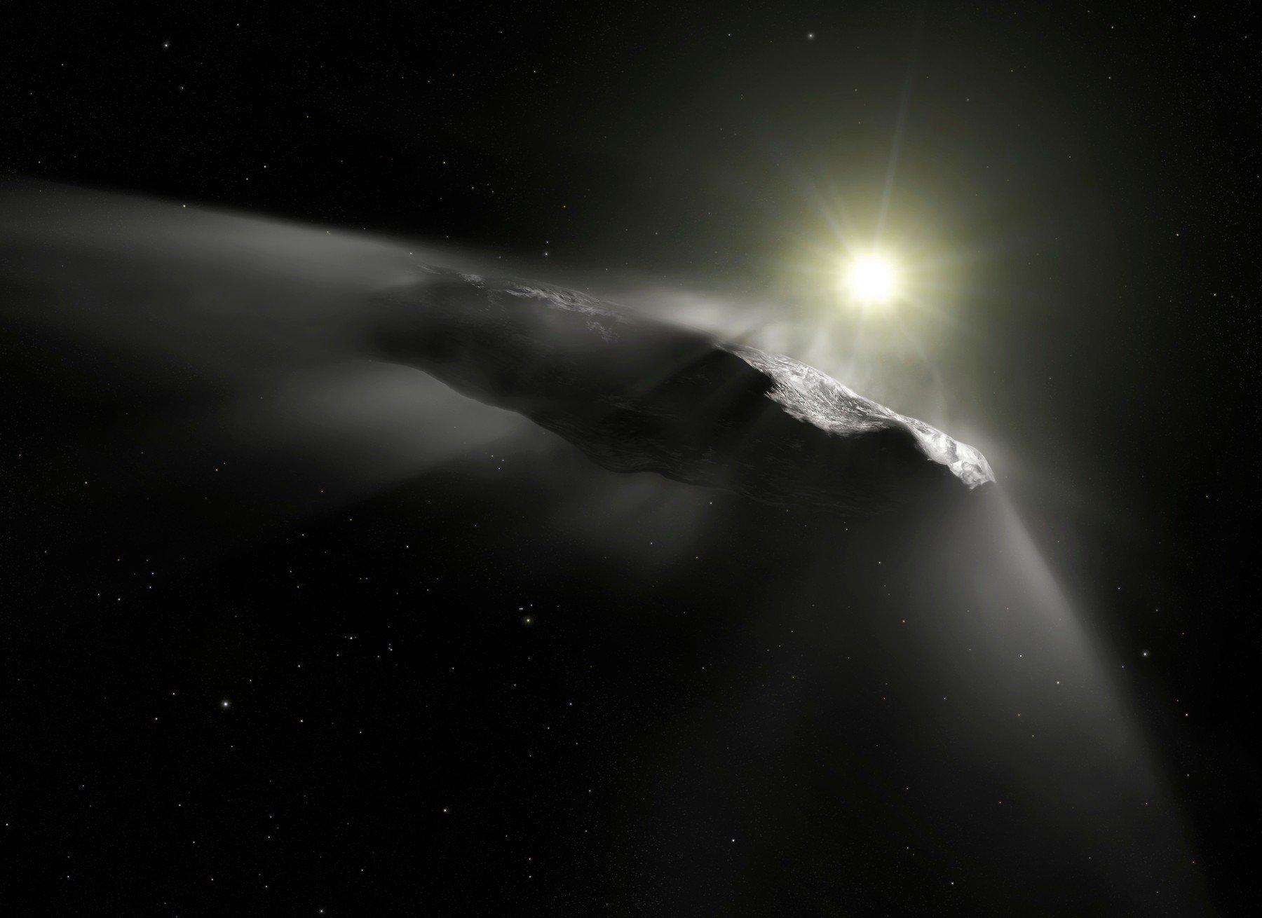 Ilustracija 'asteroida' Oumuamua