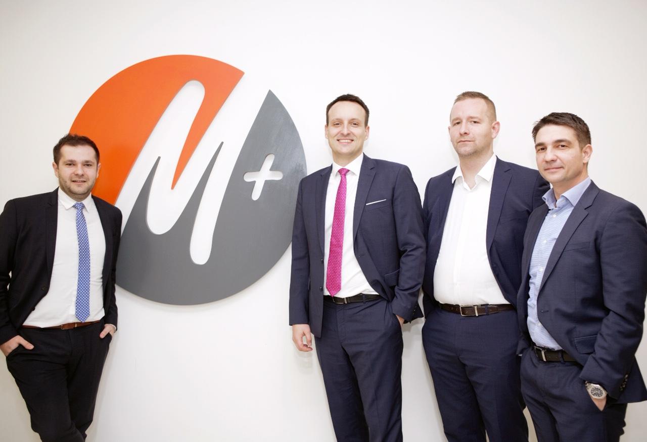 Tomislav Glavaš, voditelj kontrolinga, Ivan Posavec, CEO M+ Grupe, Darko Horvat, CFO M+ Grupe te Marko Dagelić, COO kontakt centra.
