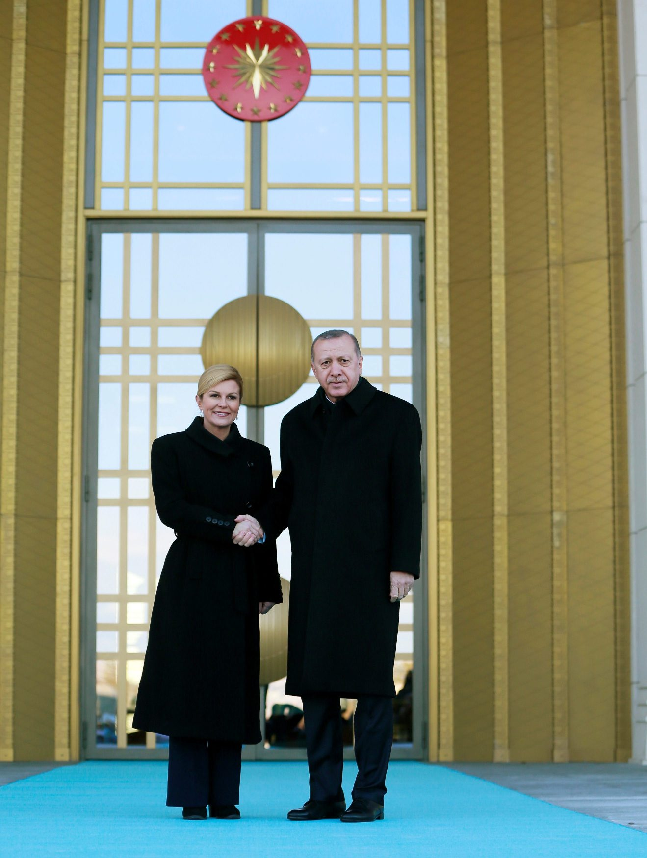 Kolinda Grabar-Kitarović i Recep Tayyip Erdoğan