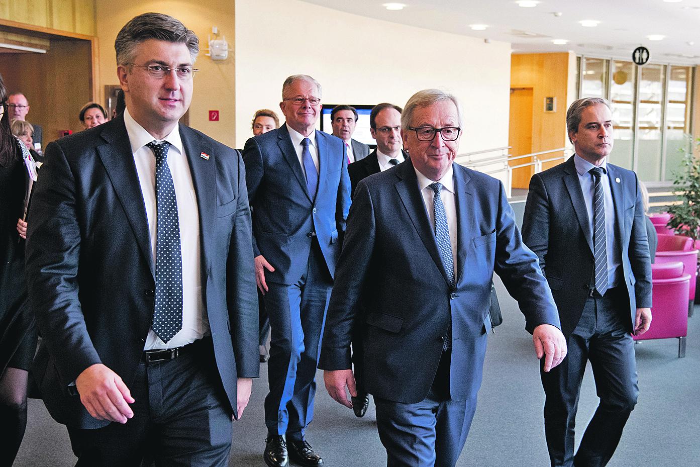 Andrej Plenković, Jean-Claude Juncker