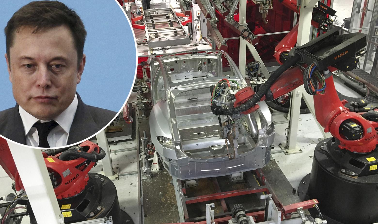 Elon Musk i tvornica Tesle