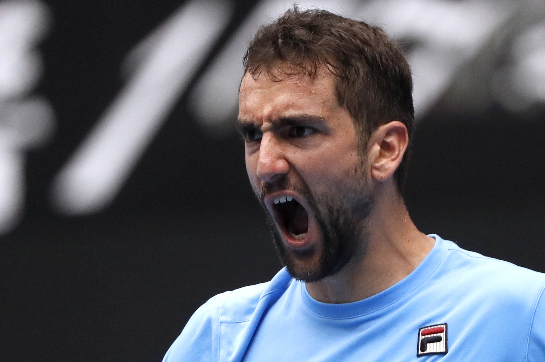 Tennis - Australian Open - Second Round - Melbourne Park, Melbourne, Australia, January 16, 2019. Croatia's Marin Cilic reacts upon winning the match against Mackenzie McDonald of the U.S. REUTERS/Aly Song - UP1EF1G0FY13A
