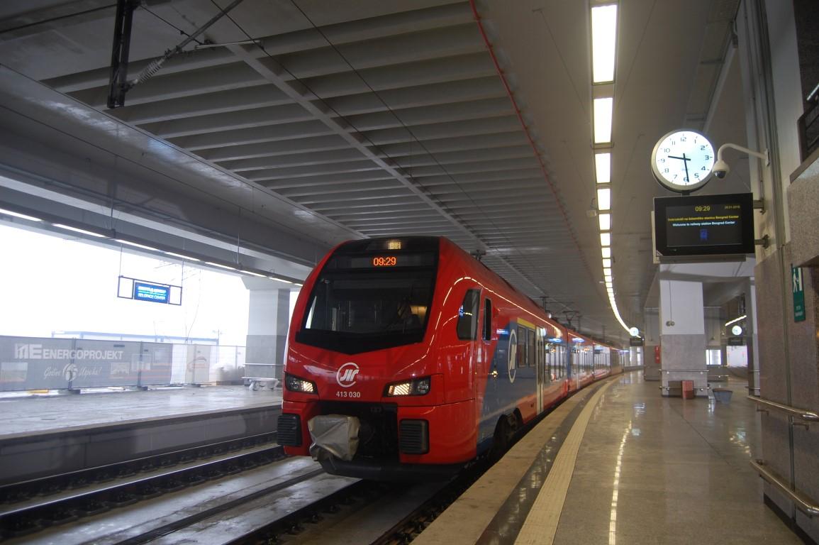 Ilustracija, stanica vlaka u centru Beograda