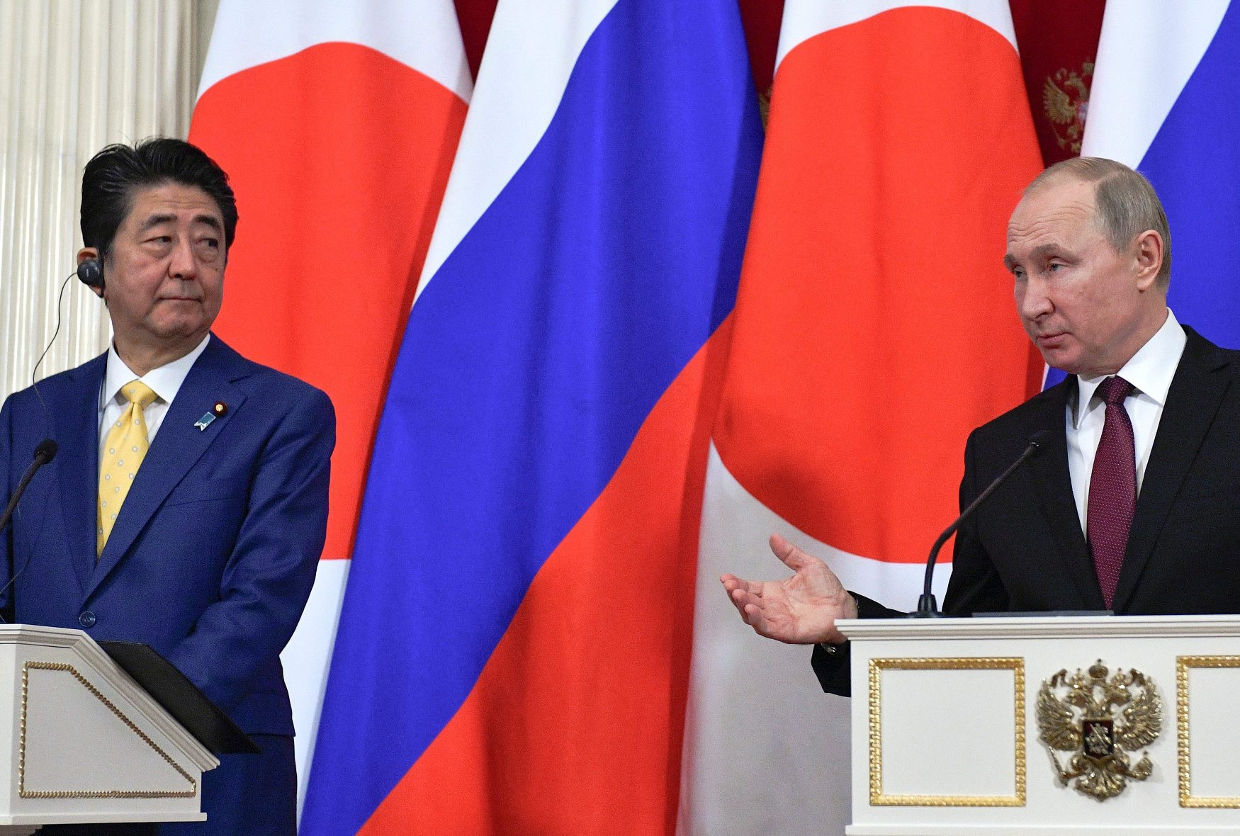 Shinzo Abe i Vladimir Putin