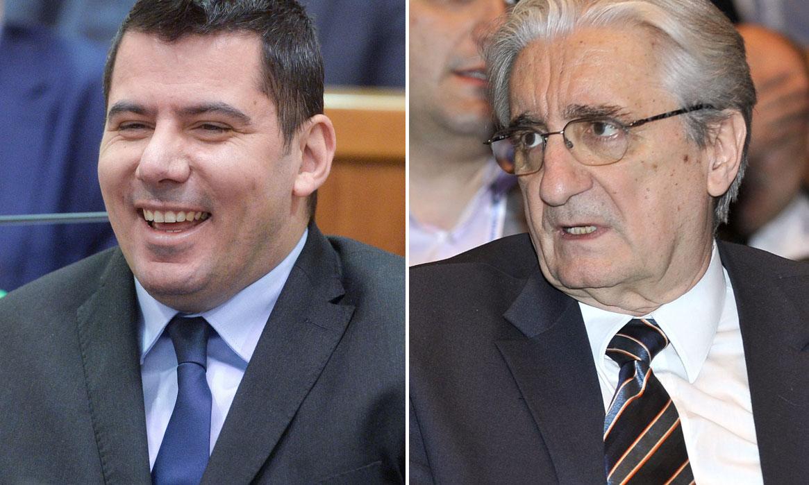 Nikola Grmoja (lijevo) i Miroslav Tuđman (desno)