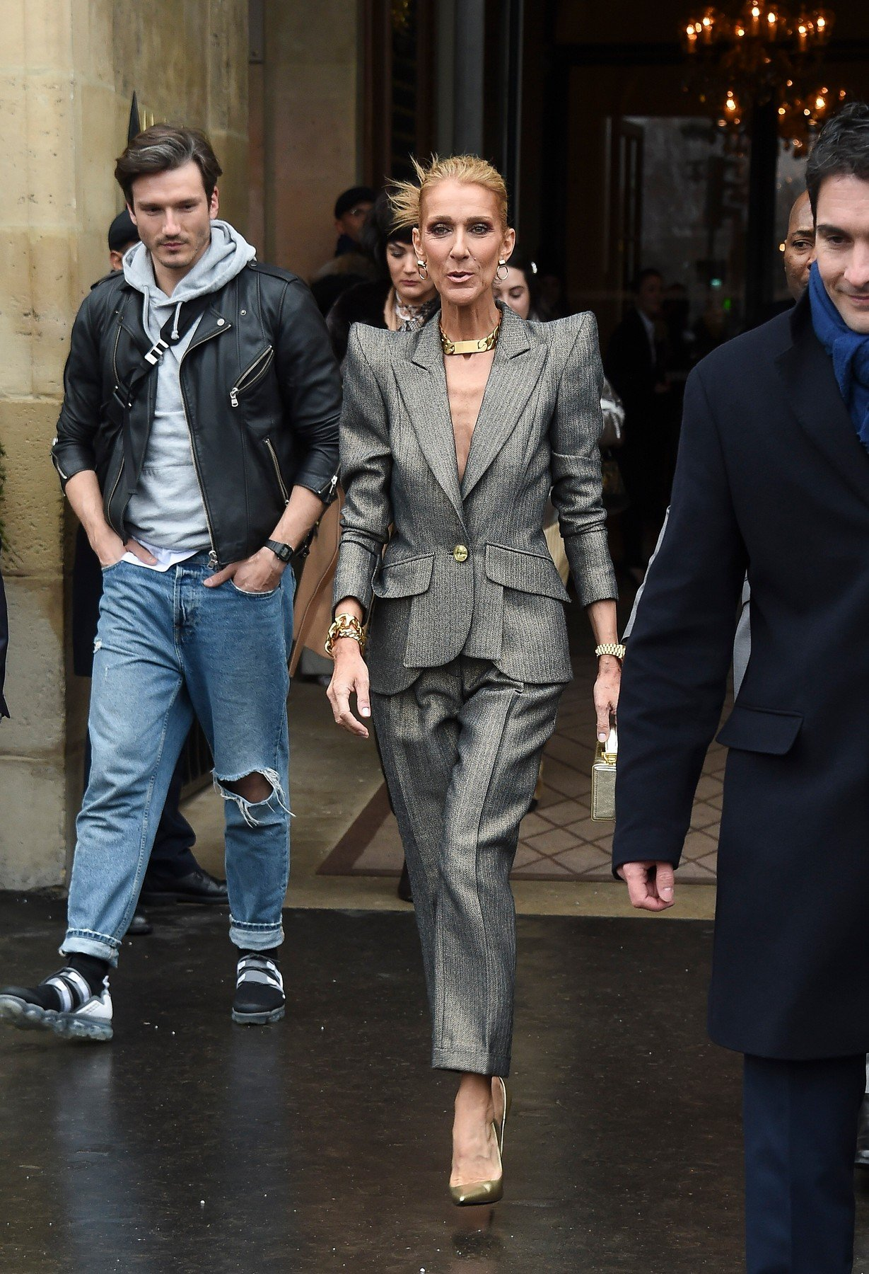 Celine Dion and Pepe Munoz sighting during the Haute Couture 's Spring-Summer 2019 fashion-week in Paris. 23 Jan 2019, Image: 409714211, License: Rights-managed, Restrictions: ONLY Australia, Canada, Croatia, Denmark, Greece, Ireland, Israel, Japan, Lithuania, New Zealand, Norway, Poland, Portugal, Romania, Slovakia, Slovenia, South Africa, South Korea, Taiwan, Thailand, Turkey, Ukraine, United Arab Emirates, United Kingdom, United States, Model Release: no, Credit line: Profimedia, Mega Agency
