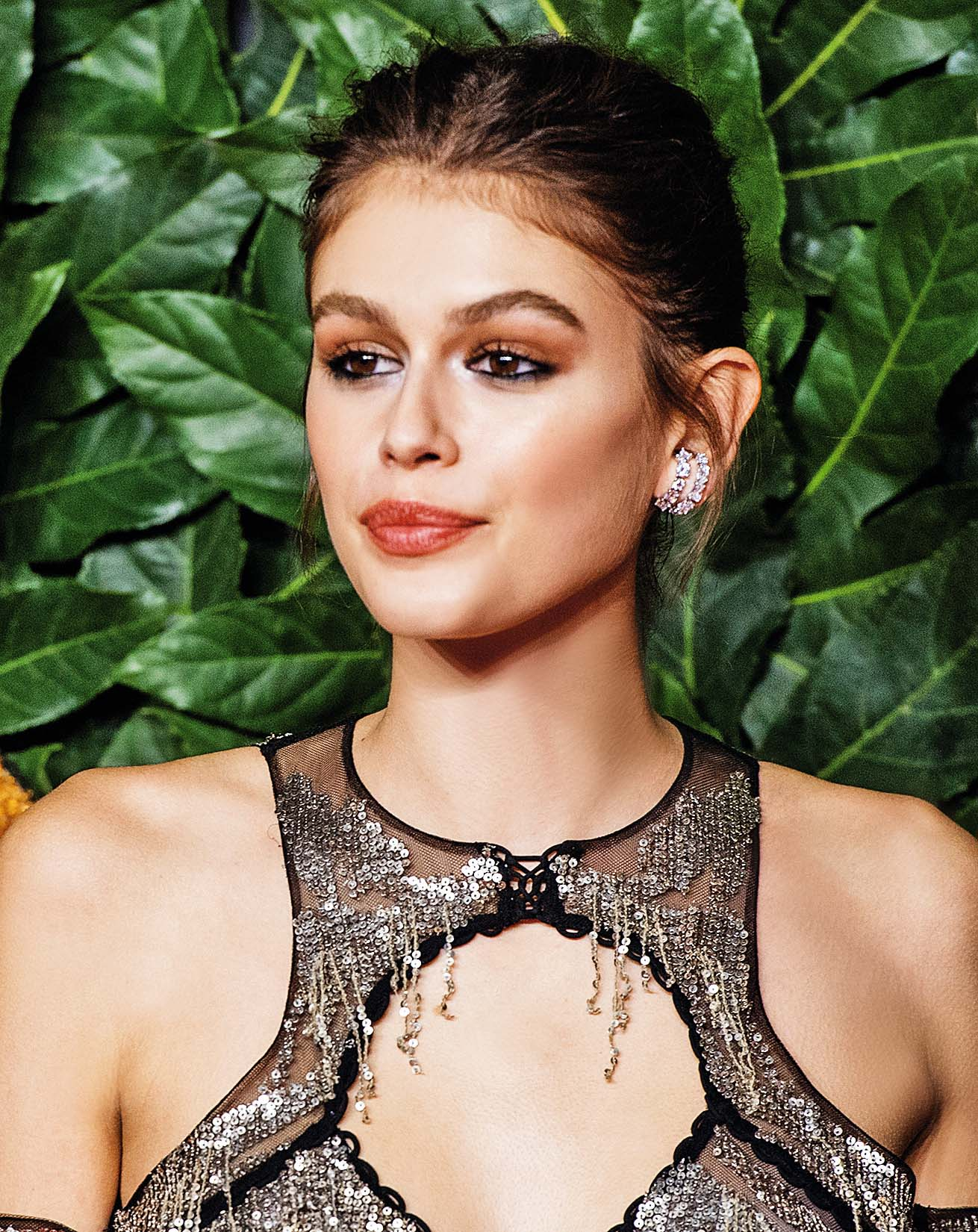 LONDON, ENGLAND - DECEMBER 10:   Kaia Gerber arrives at The Fashion Awards 2018 In Partnership With Swarovski at Royal Albert Hall on December 10, 2018 in London, England. (Photo by Samir Hussein/Samir Hussein/WireImage)