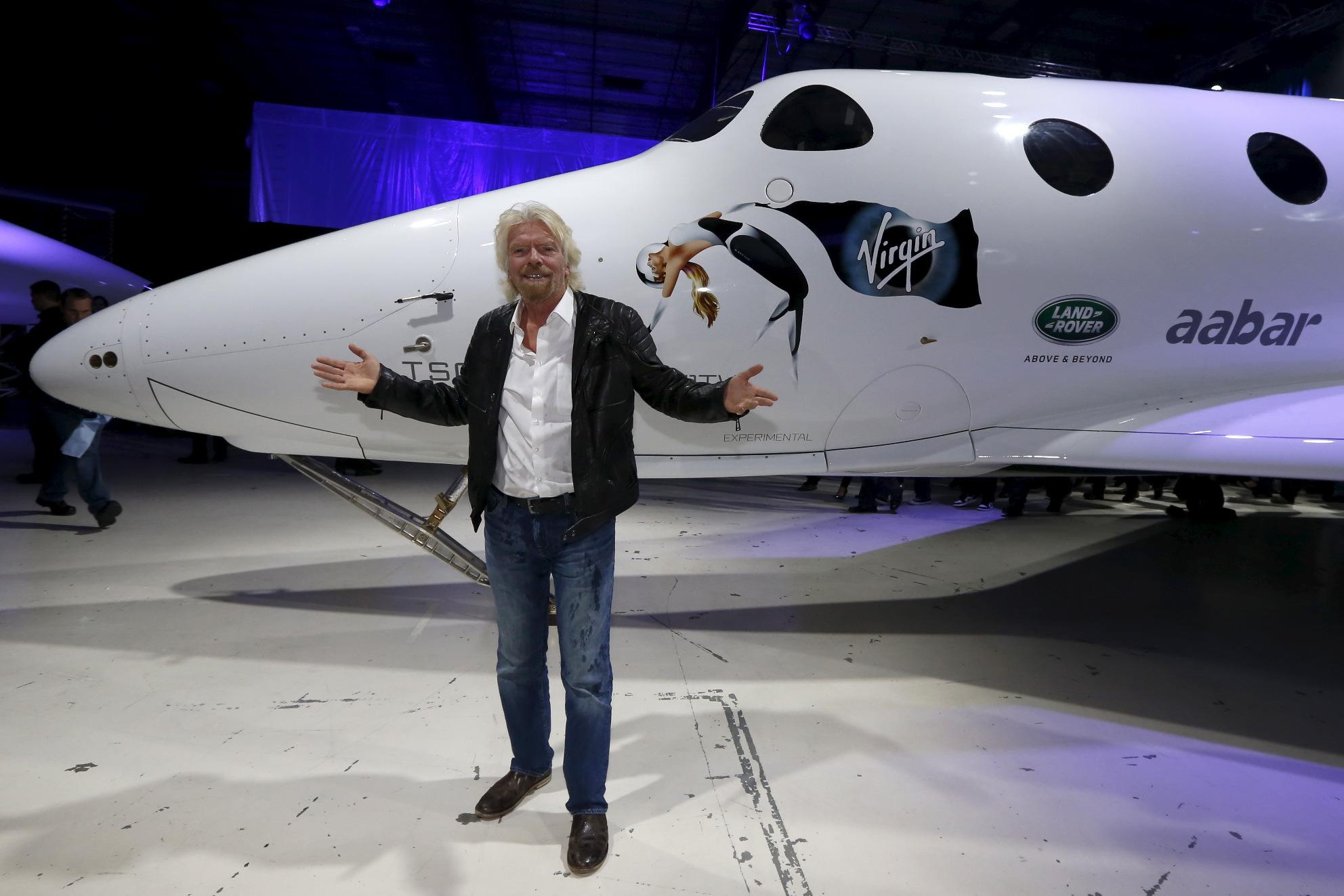Richard Branson i SpaceShipTwo