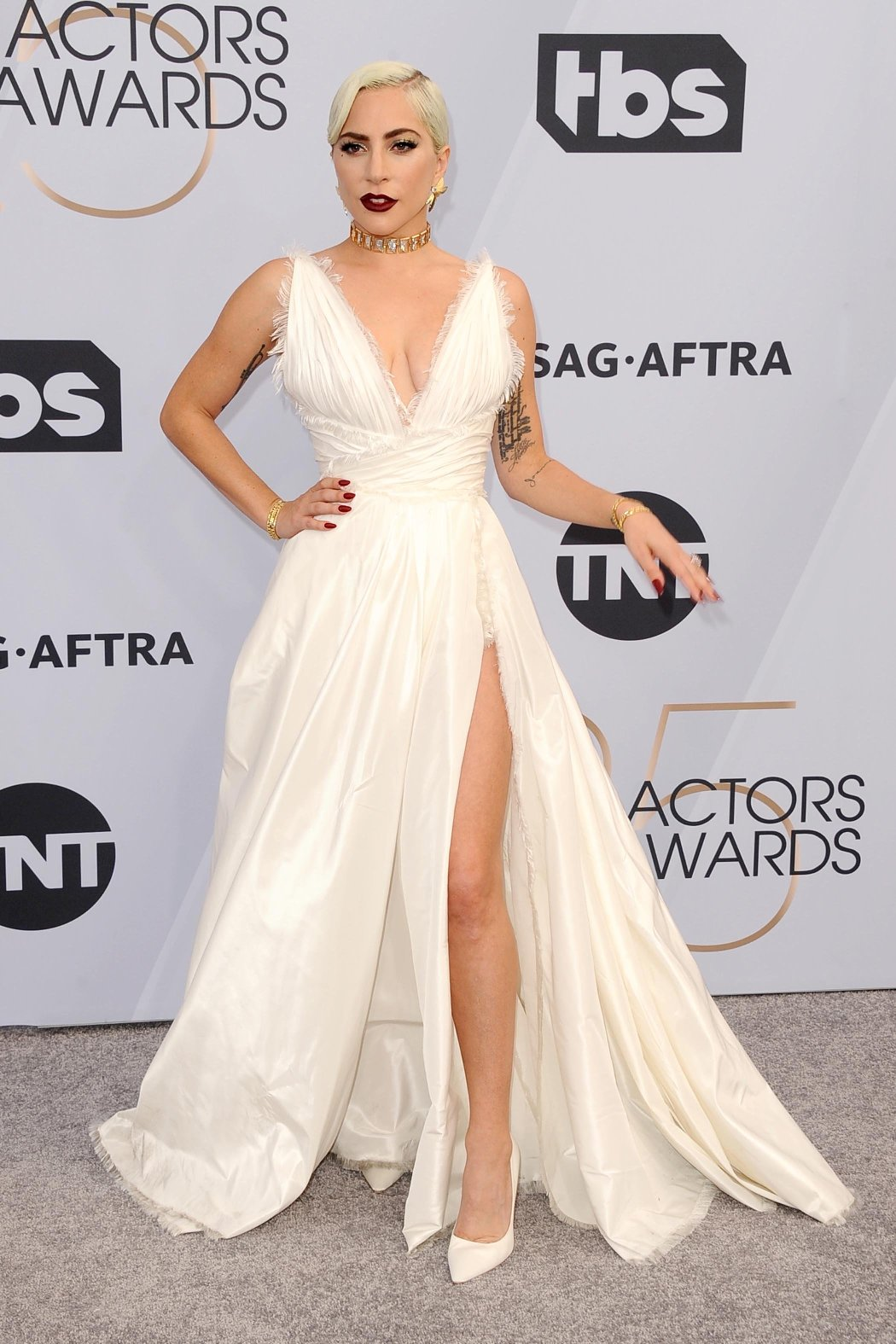 , Los Angeles, CA -20190127 -  25th Screen Actors Guild Awards Arrivals, at  Shrine Auditorium and Expo Hall  -PICTURED: Lady Gaga -, Image: 410680970, License: Rights-managed, Restrictions: , Model Release: no, Credit line: Profimedia, INSTAR Images