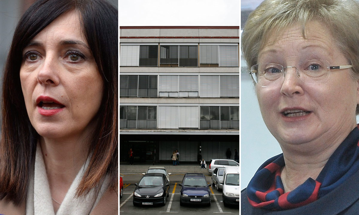 lijevo: Blaženka Divjak; u sredini: zgrada Filozofskog fakulteta u Zagrebu; desno: Vesna Vlahović-Štetić