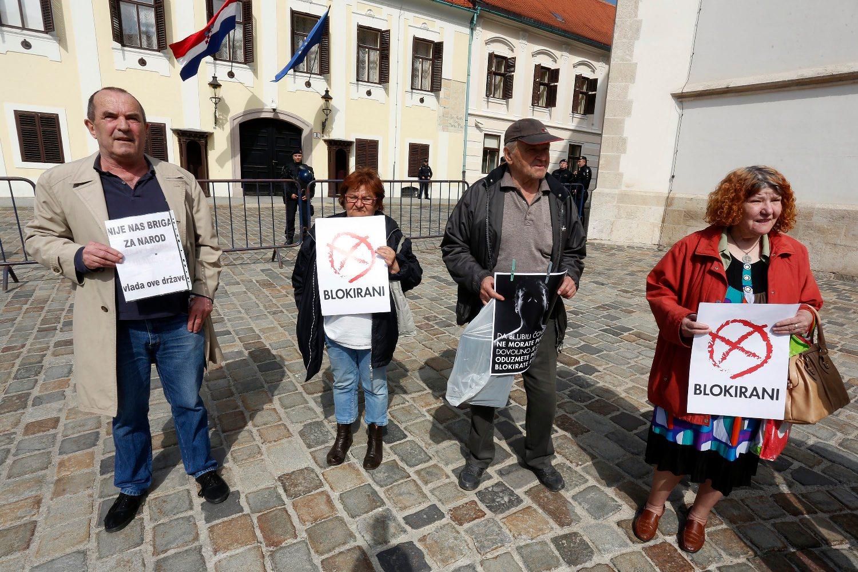 Prosvjed udruge 'Blokirani'