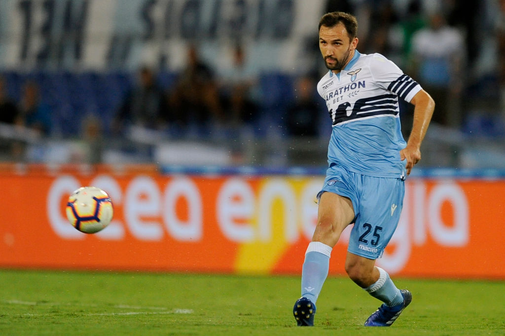 ROME, ITALY - AUGUST 18:  Milan Badelj of SS Lazio during the serie A match between SS Lazio and SSC Napoli at Stadio Olimpico on August 18, 2018 in Rome, Italy.  (Photo by Marco Rosi/Getty Images)