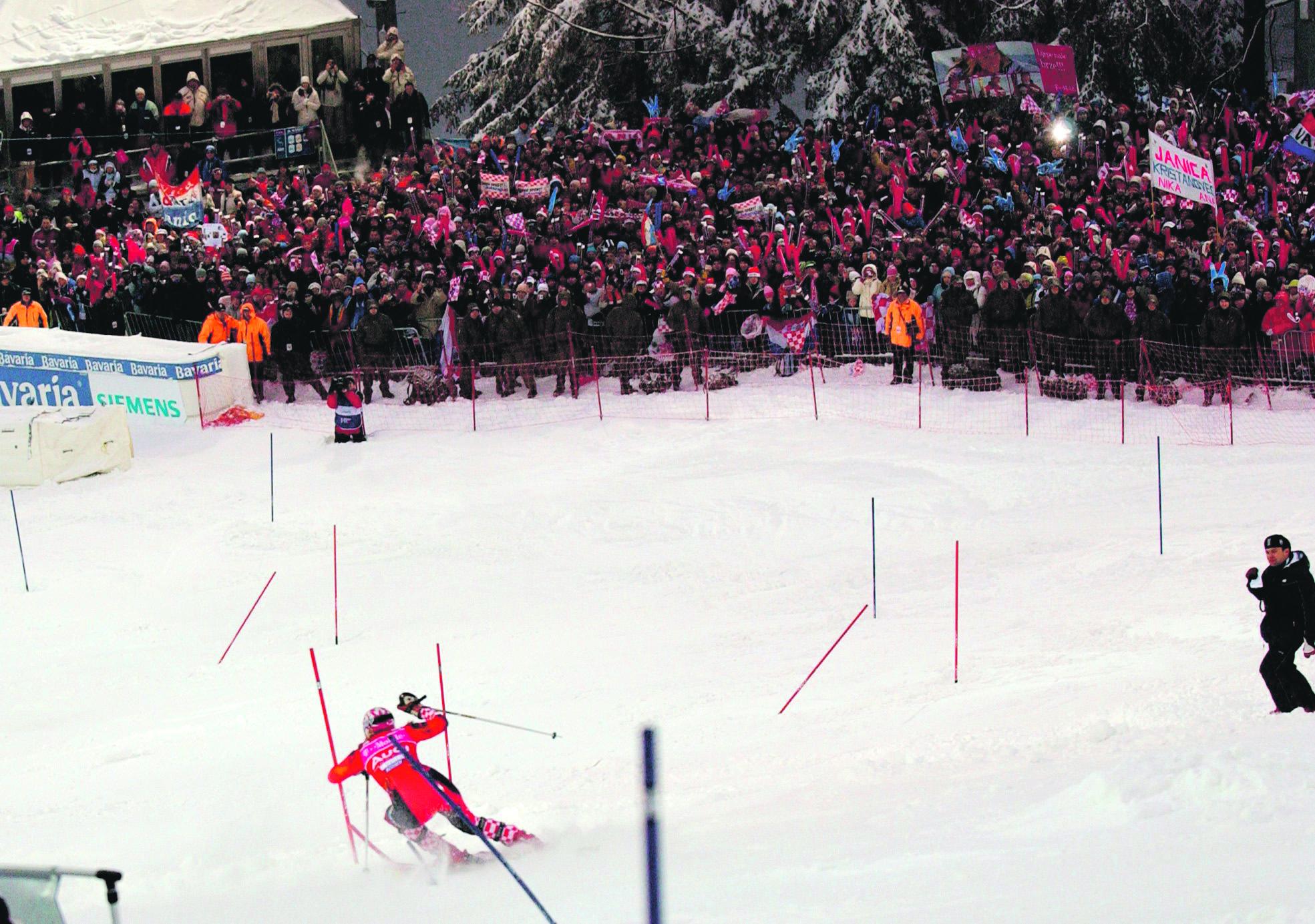 zagreb, 05012006 snjezna kraljica sljeme skijanje slalom staza janica kostelic pavlek foto:srdan vrancic -spo- -desk- -zag- -web-