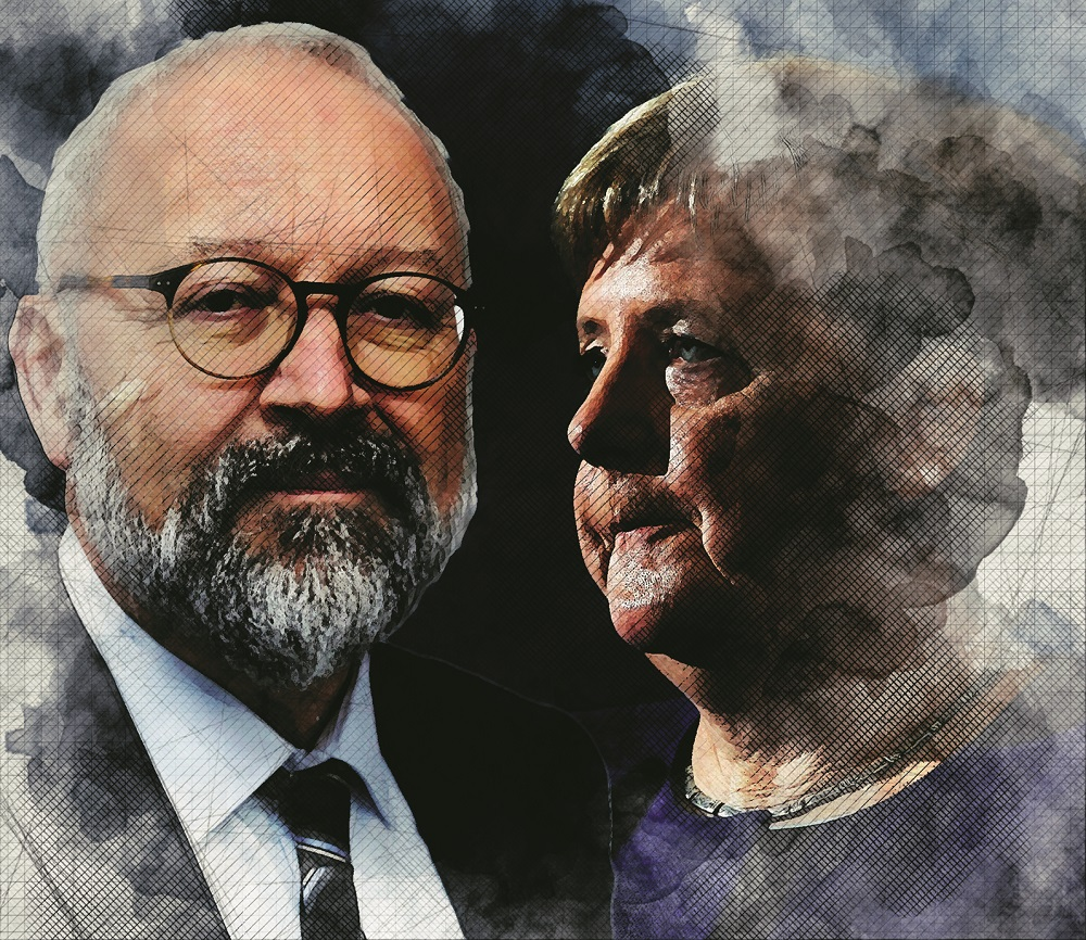 Angela Merkel i Herfried Münkler