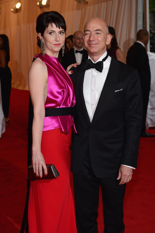 NEW YORK, NY - MAY 07:  Mackenzie Bezos (L) and Jeff Bezos, founder and chief executive officer of Amazon.com attend the