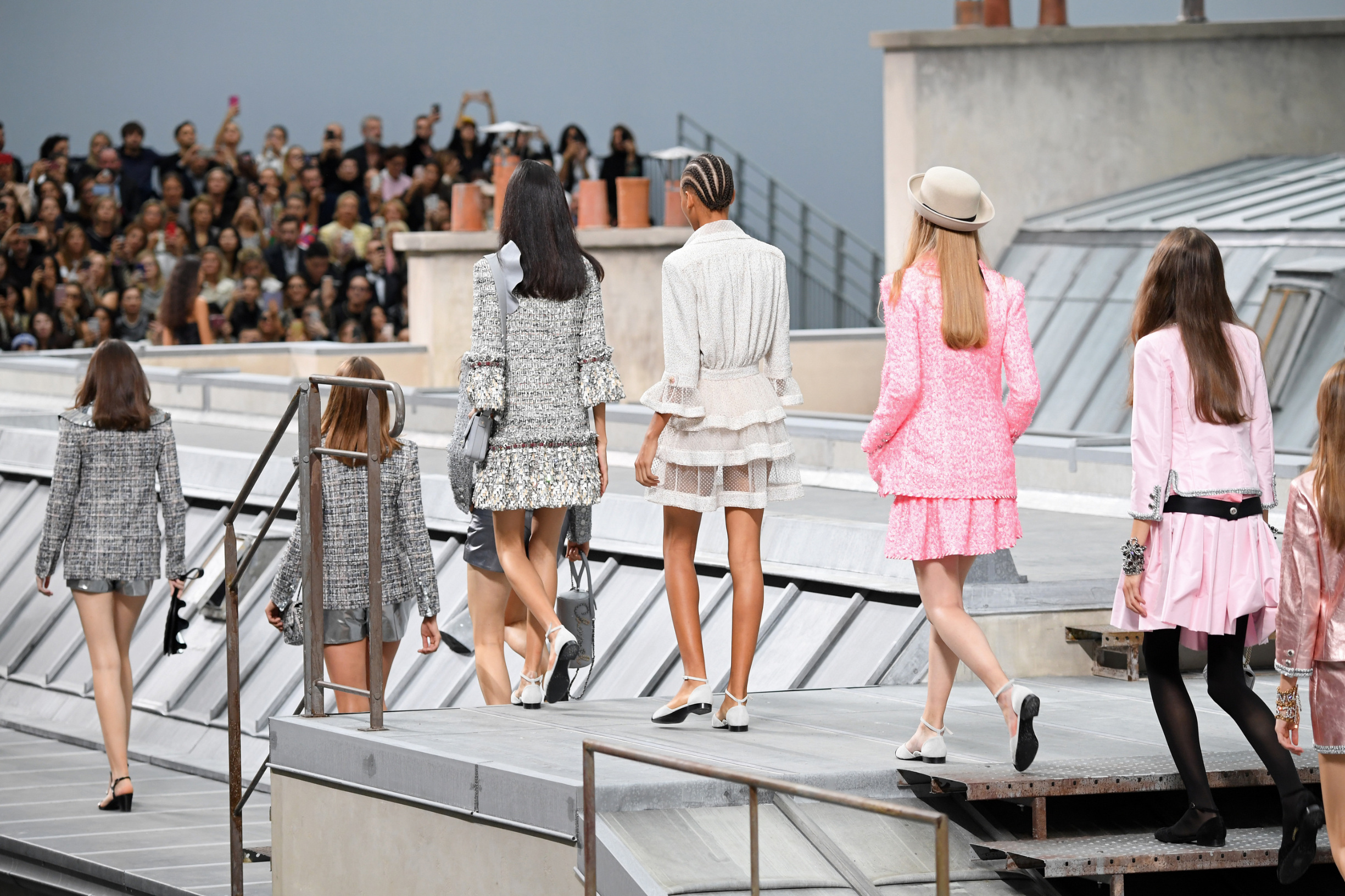 PARIS, FRANCE - OCTOBER 01: Models walk the runway during the Chanel Womenswear Spring/Summer 2020 show as part of Paris Fashion Week on October 01, 2019 in Paris, France. (Photo by Pascal Le Segretain/Getty Images)