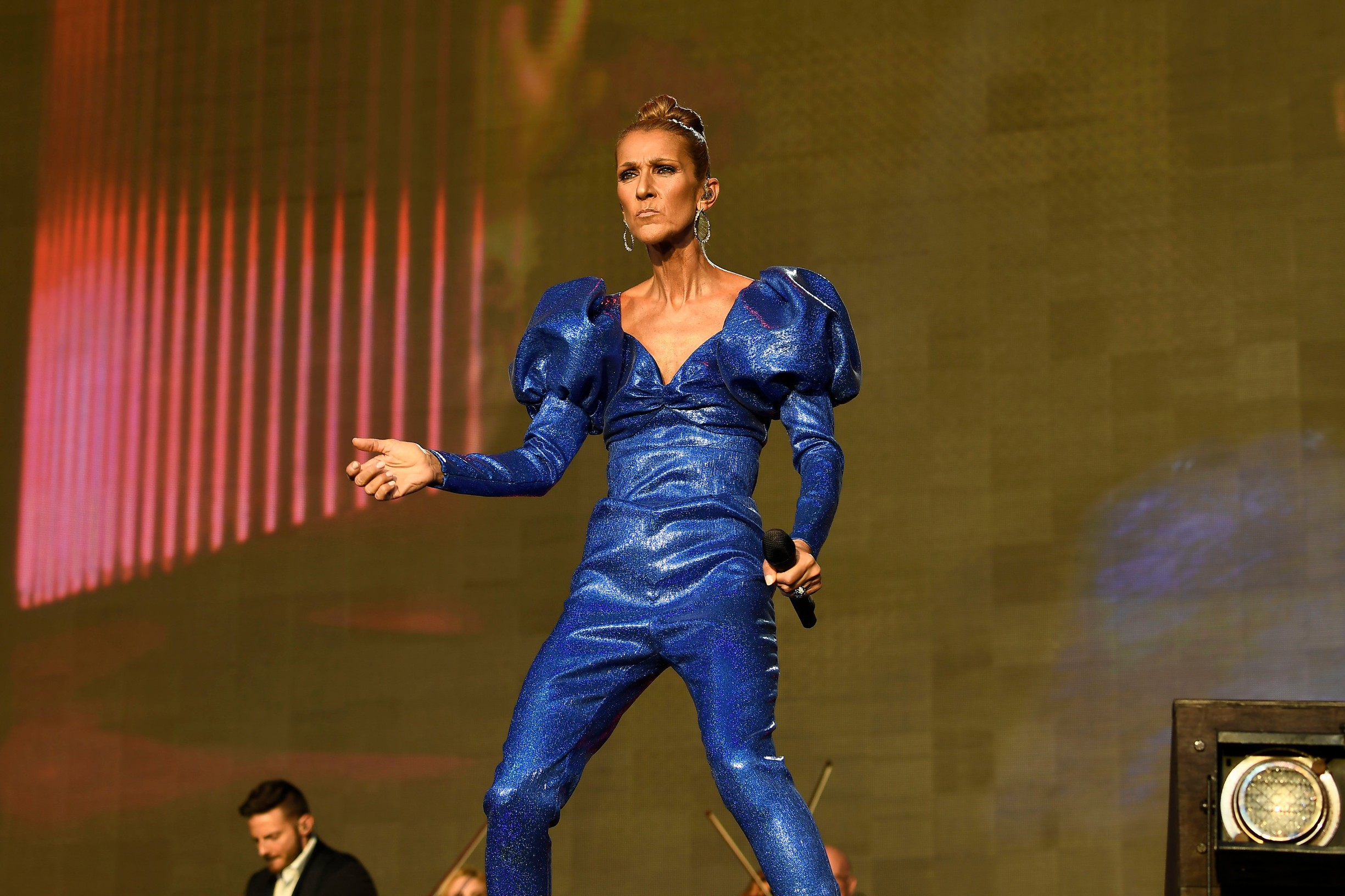 LONDON, ENGLAND - JULY 5: Celine Dion performing at British Summertime, Hyde Park on July 5, 2019 in London, England., Image: 454944889, License: Rights-managed, Restrictions: , Model Release: no, Credit line: Martin Harris / Capital pictures / Profimedia