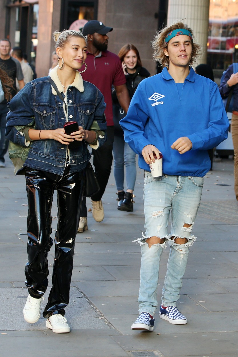 Justin Bieber and Hailey Baldwin Justin Bieber and Hailey Baldwin out and about, London, UK - 17 Sep 2018, Image: 387115071, License: Rights-managed, Restrictions: , Model Release: no, Credit line: Profimedia, Shutterstock Editorial, Beretta/Sims