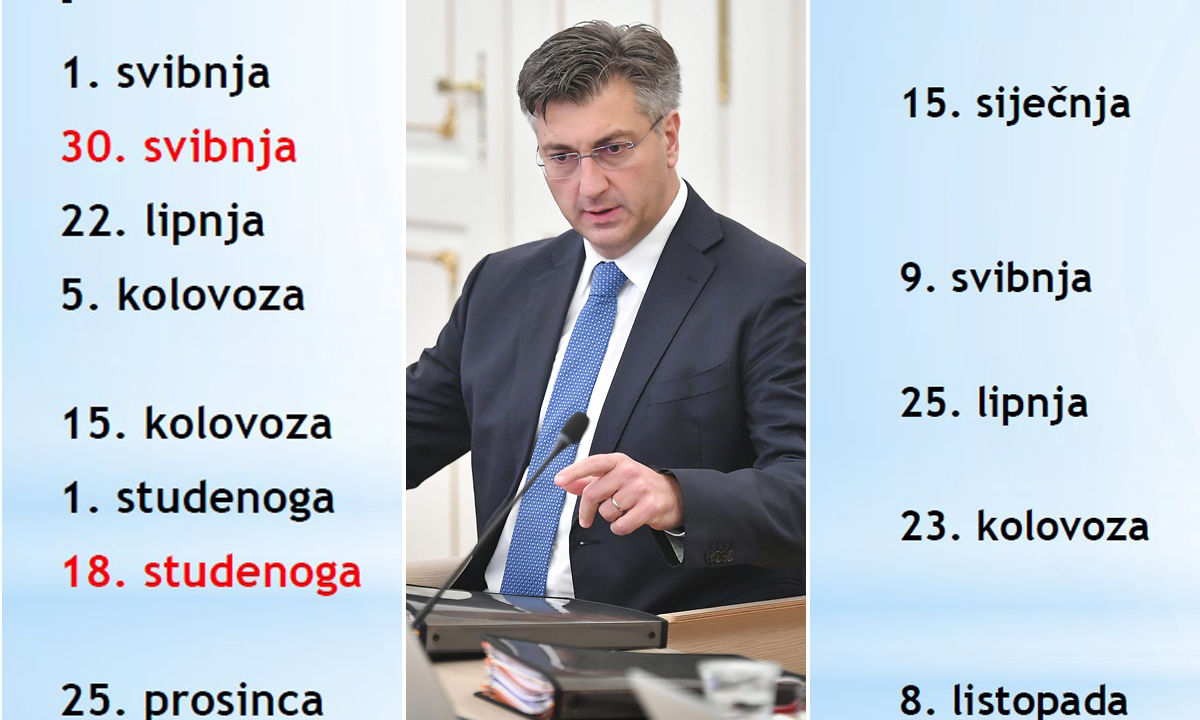 Novi blagdani i novi spomendani, premijer Andrej Plenković