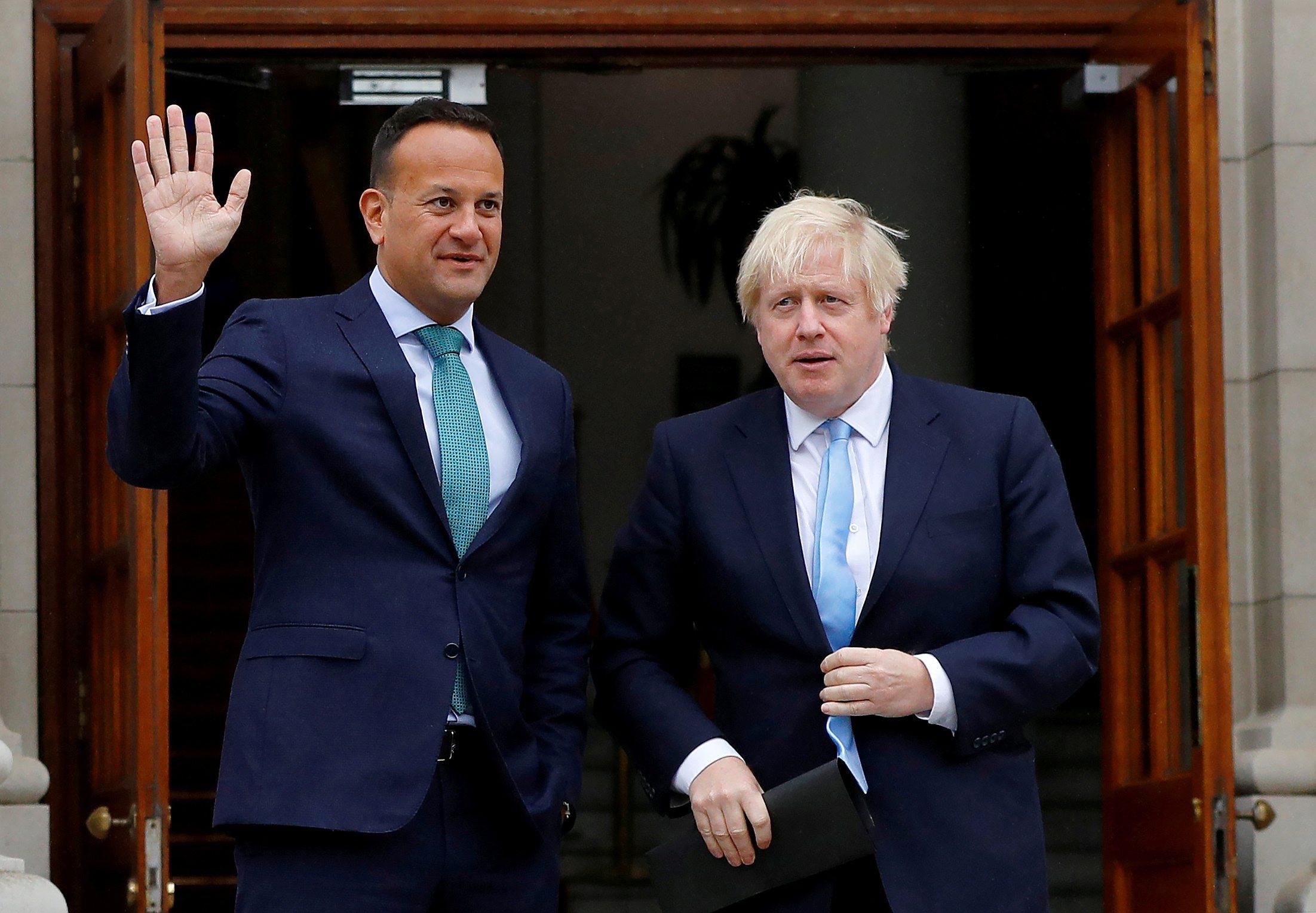 Irski premijer Leo Varadkar (lijevo) i njegov britanski kolega Boris Johnson tijekom pregovora o Brexitu