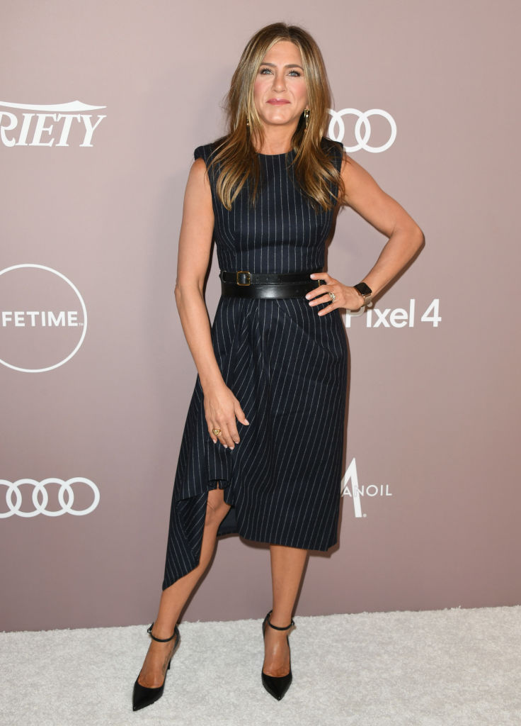 BEVERLY HILLS, CALIFORNIA - OCTOBER 11:  Jennifer Aniston attends Variety's 2019 Power Of Women: Los Angeles Presented By Lifetime at the Beverly Wilshire Four Seasons Hotel on October 11, 2019 in Beverly Hills, California. (Photo by Jon Kopaloff/Getty Images,)