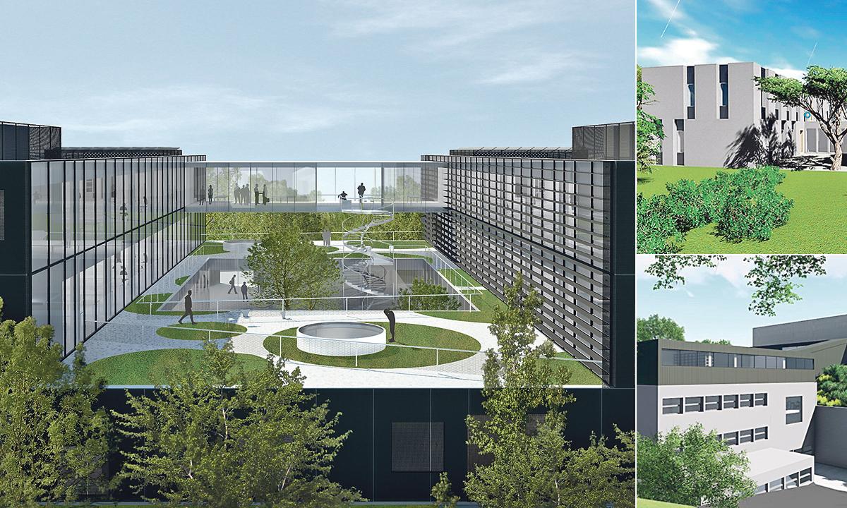 Izgled novih zgrada IRB-a