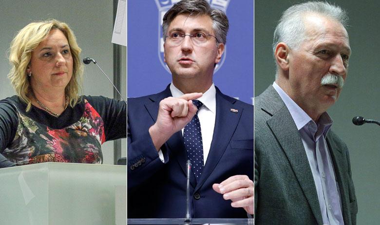Sanja Šprem, Andrej Plenković i Branimir Mihalinec