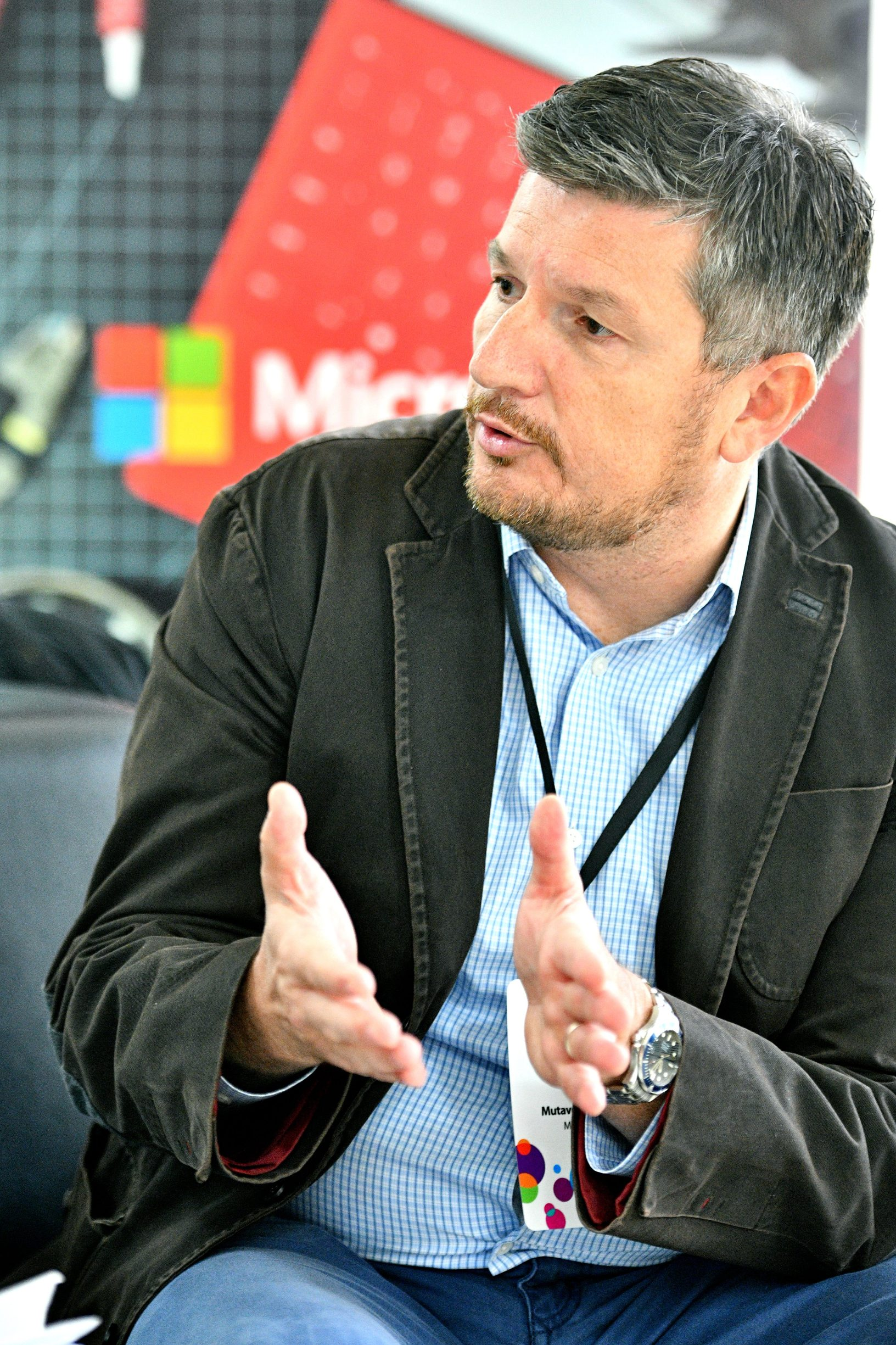 Zagreb, 111019. Kras auditorium. Intervju s Ratkom Mutavdzicem, Director, Cloud Services for Public Sector in Central Eastern Europe, voditelj Cloud usluga za javni sektor u Srednjoistcoj Europi unutar tvrtke Microsoft. Foto: Srdjan Vrancic / CROPIX